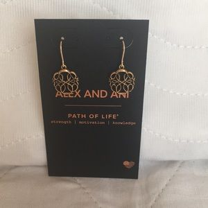 NWT Alex & Ani Path Of Life Hook Earrings